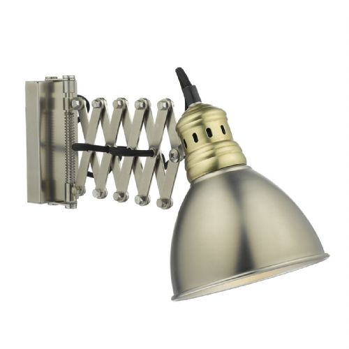 Esra 1 Light Wall Bracket Antique Chrome Antique Brass (Class 2 Double Insulated) BXESR0761-17